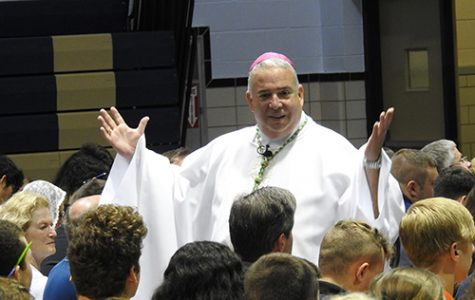 Bishop Perez visits Hoban and engages the hearts and minds of students