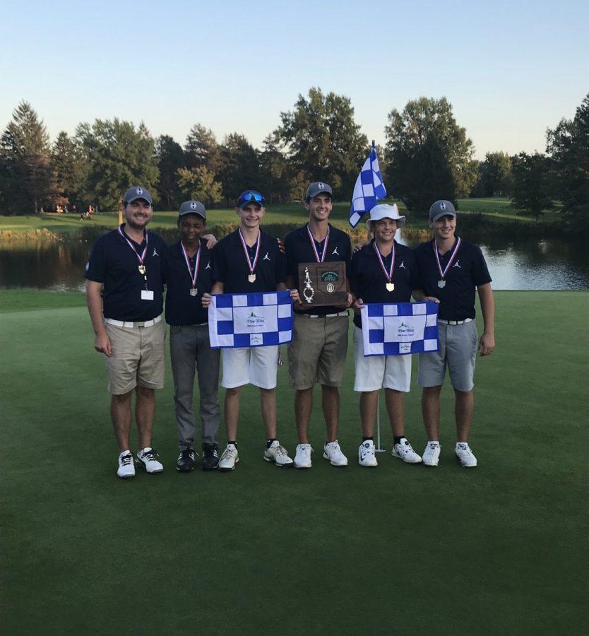 Boys golf tees up at states
